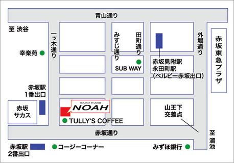 サウンドスタジオノア赤坂の地図