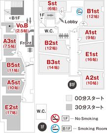 スタジオノア渋谷1号フロアマップ