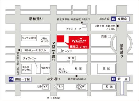 サウンドスタジオノア銀座の地図