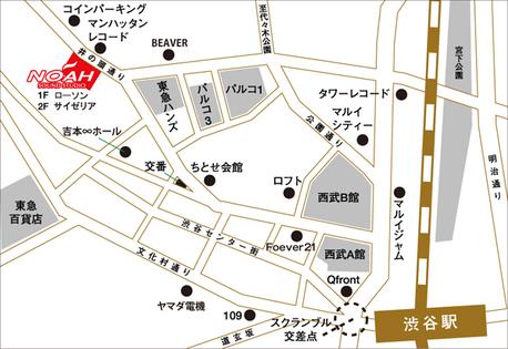 サウンドスタジオノア渋谷2号の地図