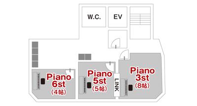 ナレーション録音におすすめサウンドスタジオノア駒沢平面図